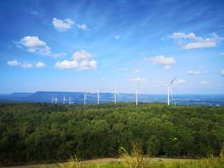 wind turbine at Korat Thailand energy