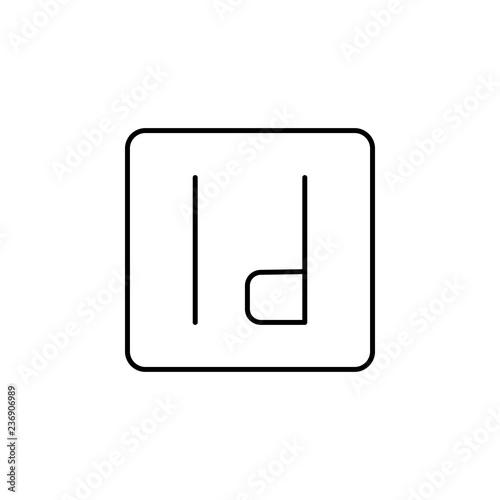 edition, InDesign icon  Element of editorial design icon
