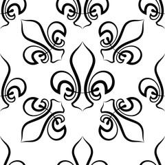 Fleur De Lis Seamless Pattern, Fleur-De-Lys Or Flower-De-Luce, The Decorative Stylized Lily
