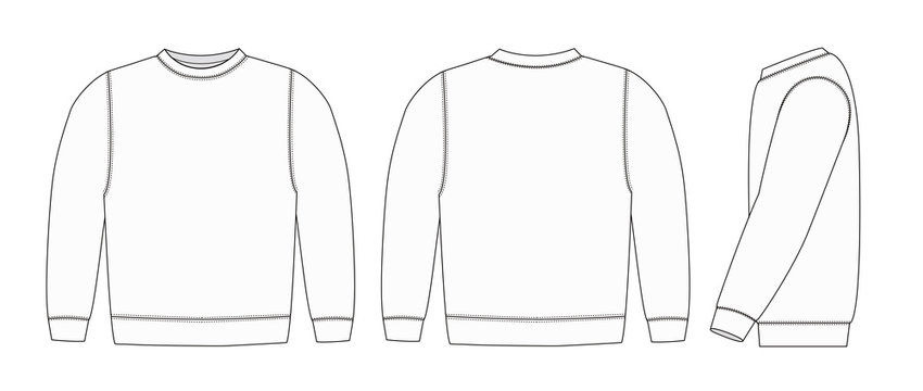Illustration of sweat shirt ( white)