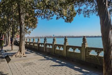Beautiful Lake in Summer palace at beijing city China