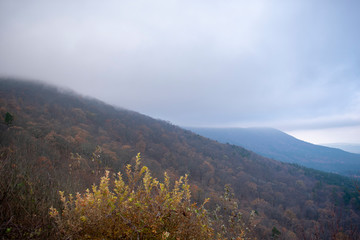 view of mountains in autumn