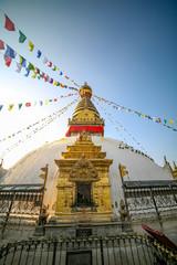 Swayambahunath Stupa in Kathmandu, Nepal. A UNESCO World Heritage Site.