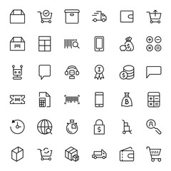 E-shopping flat icon