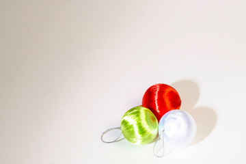 Christmas and New Year card decoration