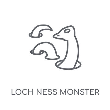 Loch ness monster linear icon. Modern outline Loch ness monster logo concept on white background from animals collection