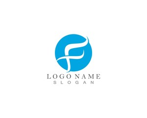 F water wave Logo and symbol vector
