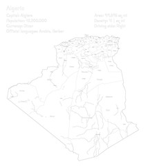 Detailed map and infographic of Algeria