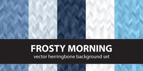 Herringbone pattern set Frosty Morning. Vector seamless parquet backgrounds Wall mural