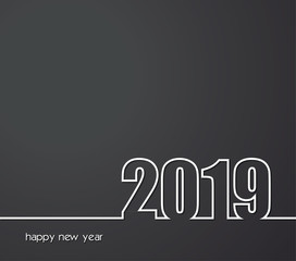 2019 Happy New Year or Christmas Background creative greeting card design, can be used for flyers, invitation, posters, brochure, banners, calendar.