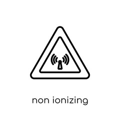 Non ionizing radiation icon. Trendy modern flat linear vector No