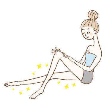 脚が綺麗な女性 全身