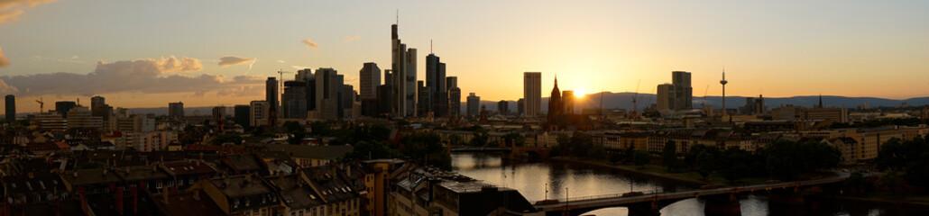 Panorama Hintergrund mit Frankfurt am Main Skyline