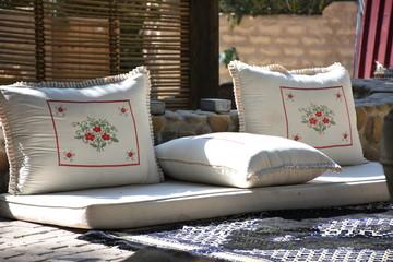 Bedouin Majlis Floor Cushion, Al Ain, UAE