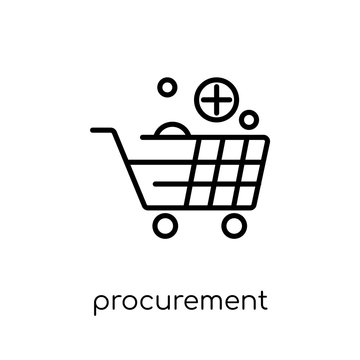 procurement icon. Trendy modern flat linear vector procurement icon on white background from thin line General collection