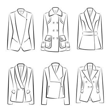Set of women's jackets