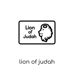 Lion of Judah icon. Trendy modern flat linear vector Lion of Judah icon on white background from thin line Religion collection