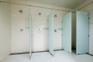 Interior of public shower room