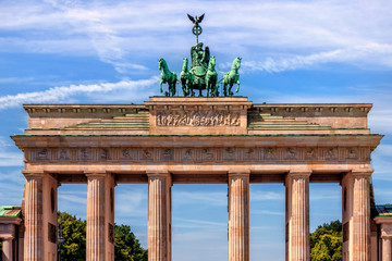 Printed roller blinds Berlin Brandenburg Gate in Berlin in Germany.
