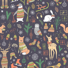 Chrismtas seamless pattern.