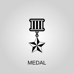 Medal icon. Medal concept symbol design. Stock - Vector illustration can be used for web.