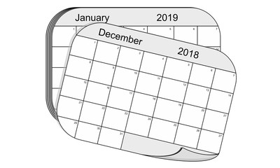 Calendar changing from 2018 to 2019