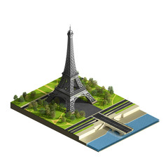 Eiffel tower isometric view