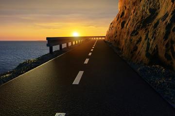 Danger cliff road