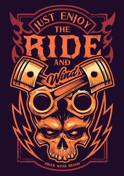 Just Enjoy The Ride Vector Biker Art