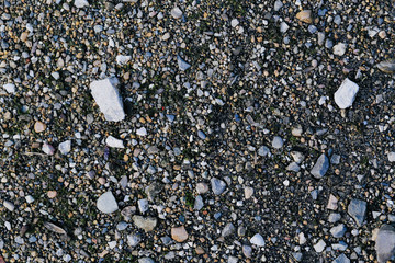 the texture. the stones on the ground.
