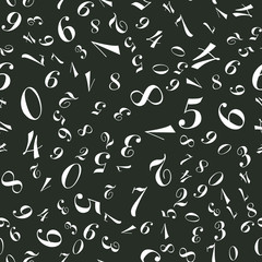 Different Numbers Seamless vector EPS 10 pattern