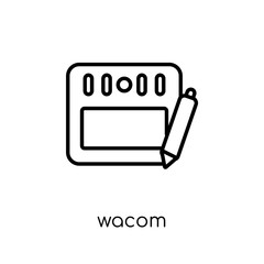 Wacom icon. Trendy modern flat linear vector Wacom icon on white background from thin line hardware collection