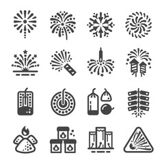 firework and manufacturing icon ,vector and illustration
