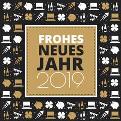 """Silvester Grüße 2019 """"Frohes neues Jahr"""" Deutsch"""