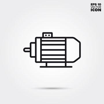 electric motor vector line icon