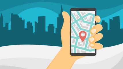 Car sharing concept. Book a car by a app