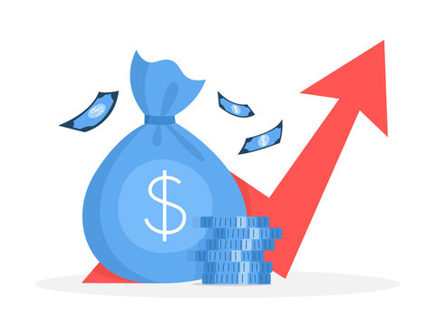 Business finance growth concept. Idea of money increase