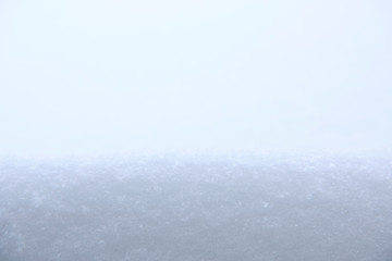 White snow. Natural winter background.