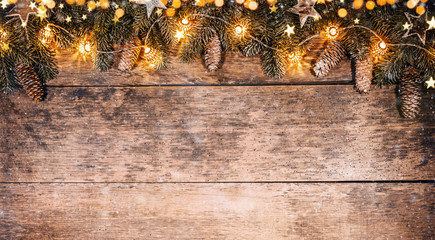 Decorative Christmas rustic background