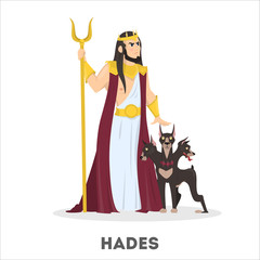 Hades greek god with dog. Ancient history