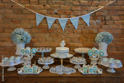 Angel Themed Baptism Boy Baptism Party Decor Dessert Table White