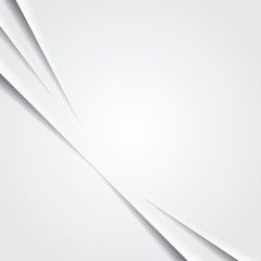White background with diagonal paper cuts.
