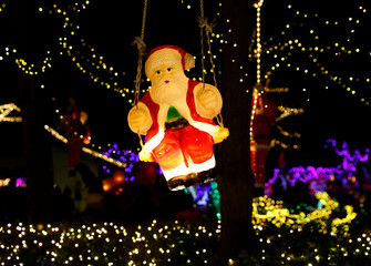Christmas decorations are seen in the garden of the so called Christmas-House in Bad Tatzmannsdorf