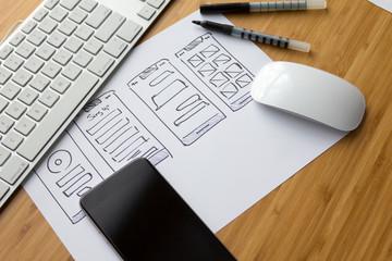 Website Sketch concept