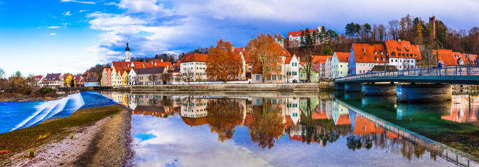 Travel in Bavaria. Landsberg am Lech - beautiful old town in Germany