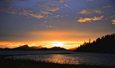 Sunset in Golf du BIC autumn