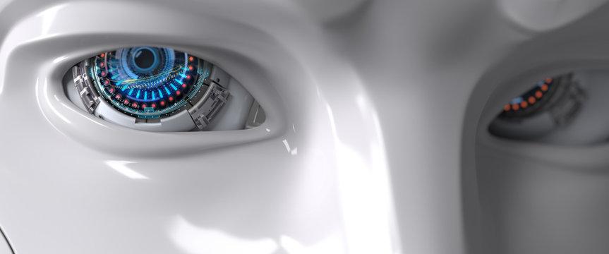 Robot eyes closeup