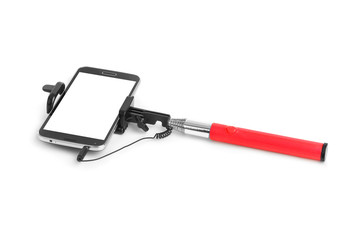 Smartphone with selfie stick