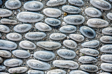 Cobblestone pavement texture