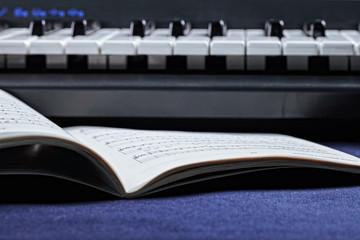 Musical notations and keyboard